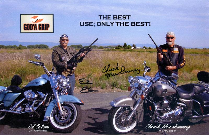 Ed Eaton & Chuck Mawhinney using God'A Grip gun grips