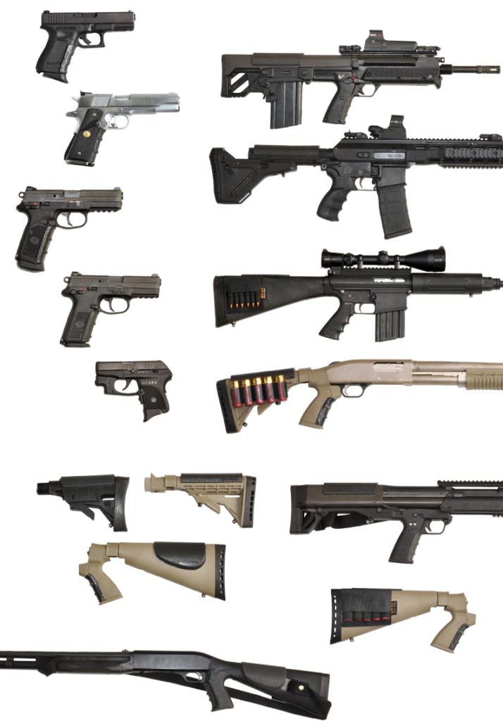 weapons with grips